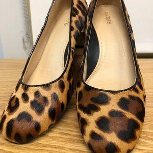 Nurture leopard print block heel shoes